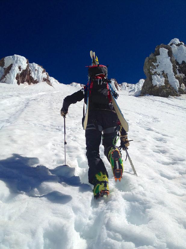 En route to the top of Mt. Hood