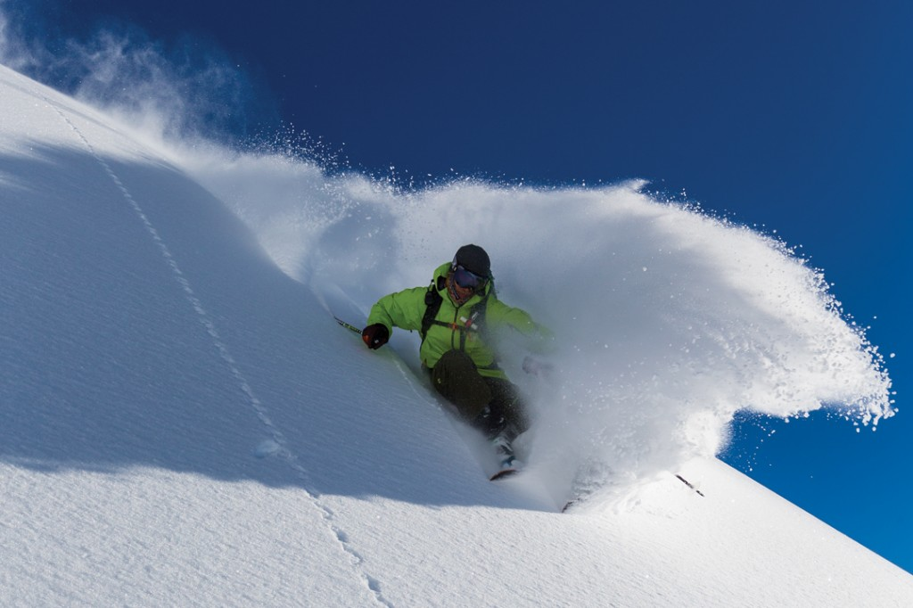 Cody Townsend skiing at Mt. Baker
