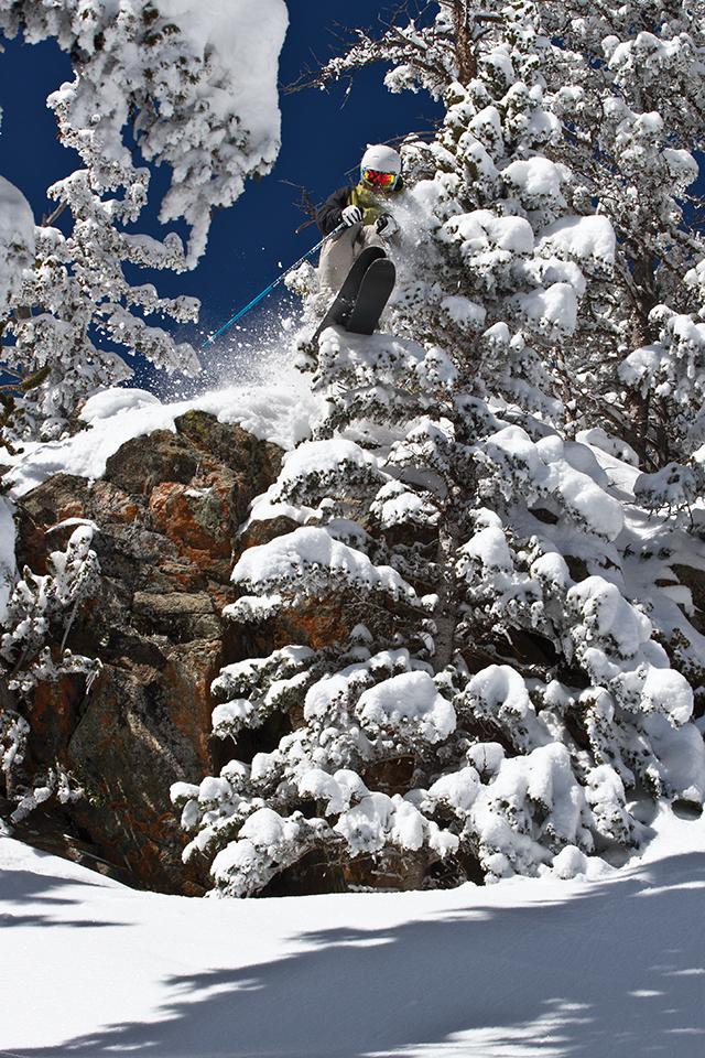 "Skier Kevin ""Bert"" Flores in Donkey/Hidalgo zone"