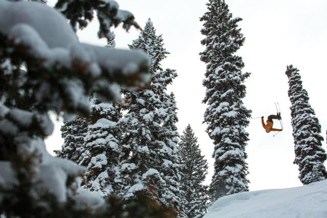 Pro skier Nick McNutt in Jackson Hole, Wyoming