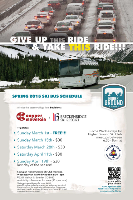 HG Ski Club Interstate 70 transportation