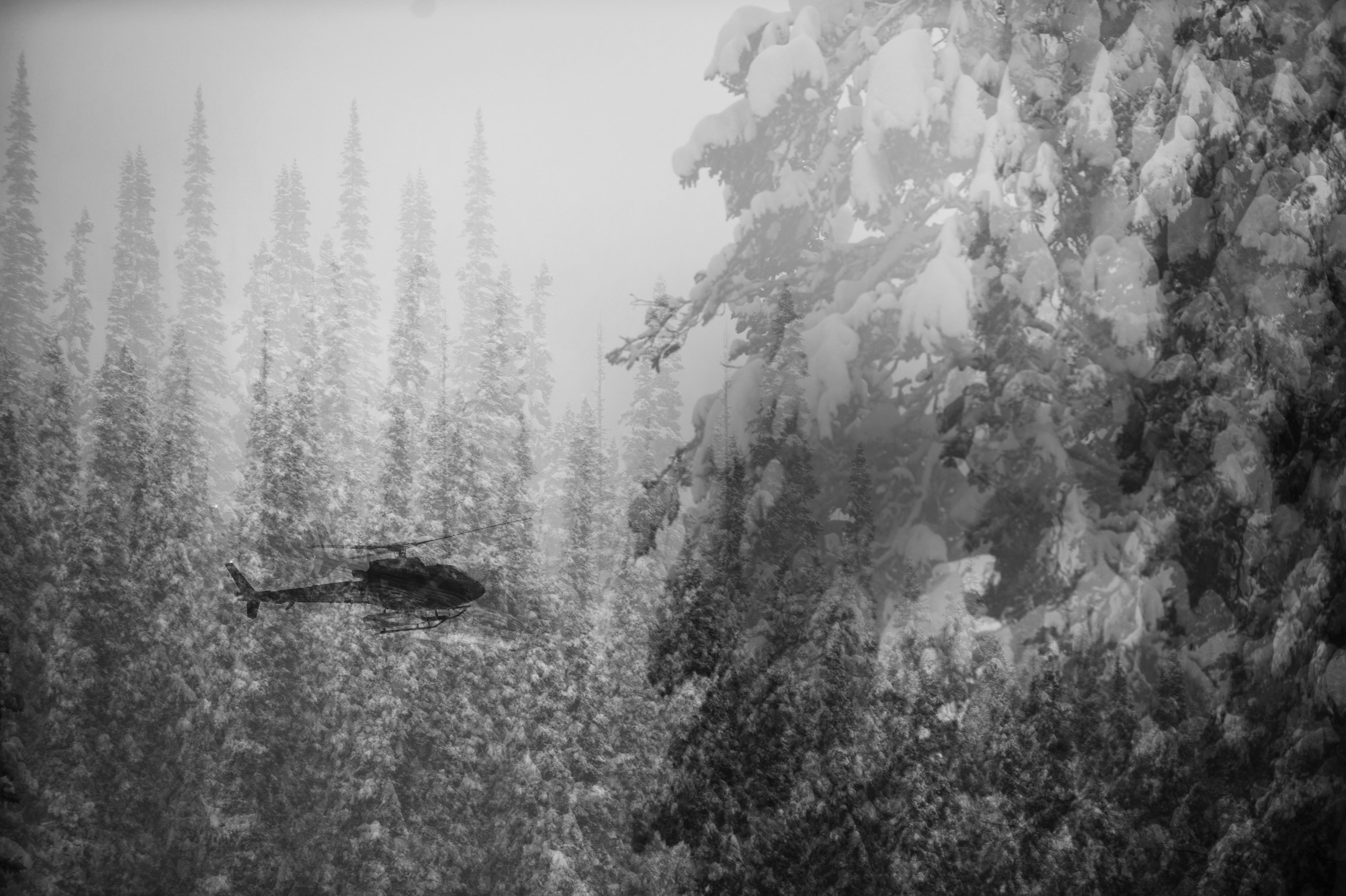 Heli skiing photo by Reuben Krabbe