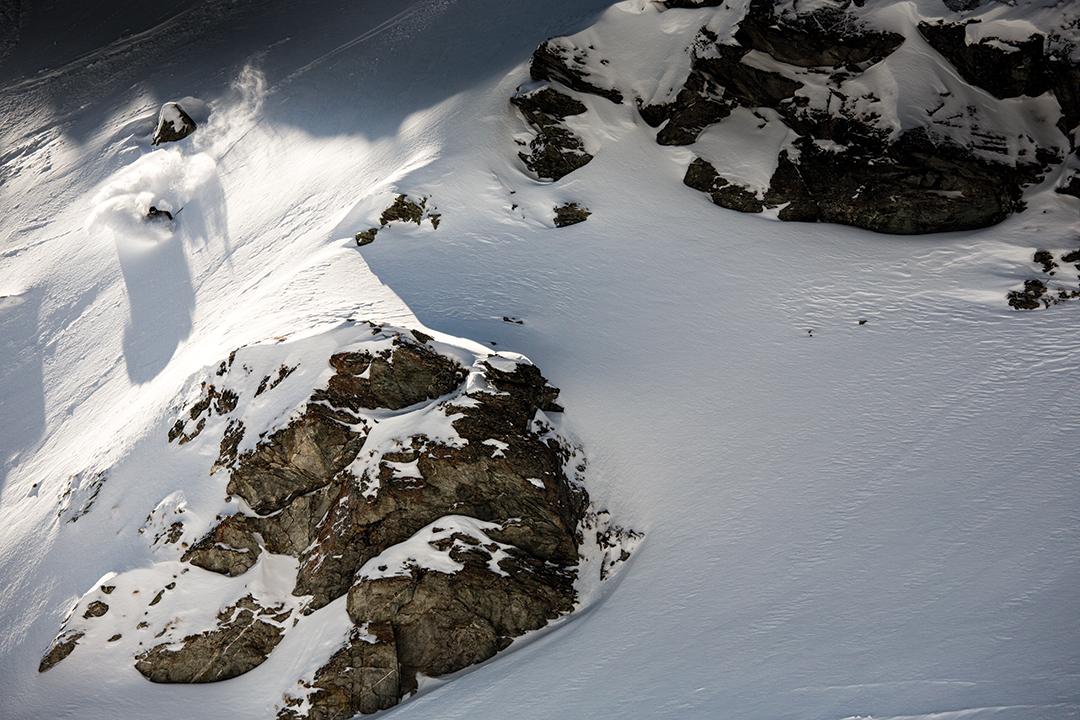 Skier Matt Soumet in Verbier