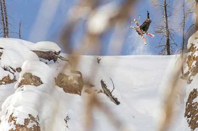 Pro skier Parker White in Cooke City, Montana
