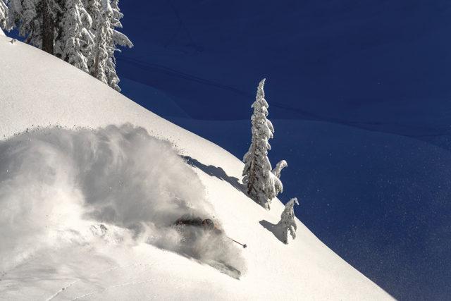 Sven Brunso skiing at Mt. Baker