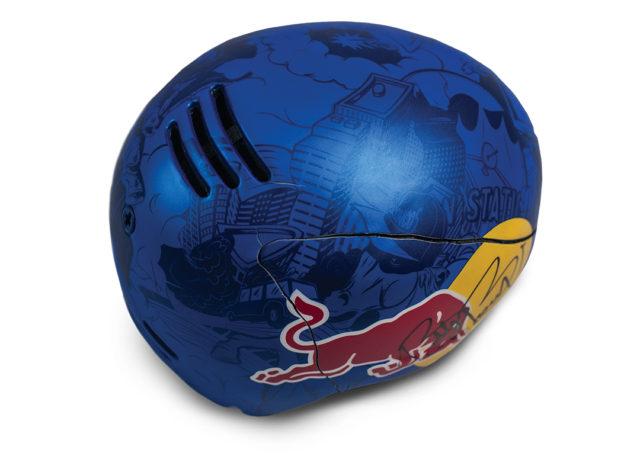 Bobby Brown's cracked Smith helmet