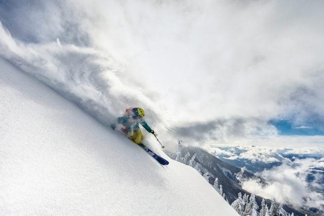 Chris Rubens skiing in Revelstoke