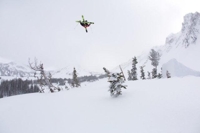 En route to stomping a big one in the backcountry.