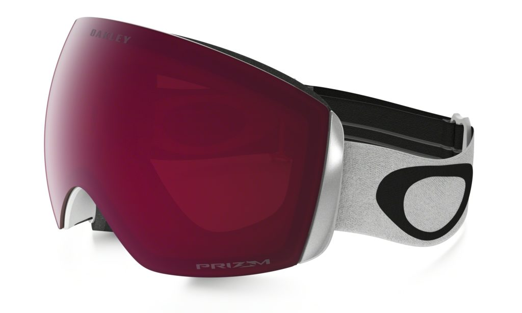 """81e65e7ef3264 The Oakley Flight Deck goggle with PRIZM lens. Pictured here  """"Matte White""""  frame with """"PRIZM Snow Rose"""" lens."""