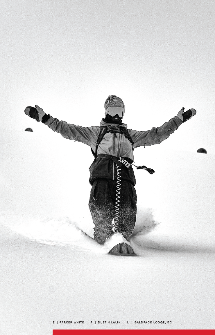 686 rider Parker White plays in the snow.