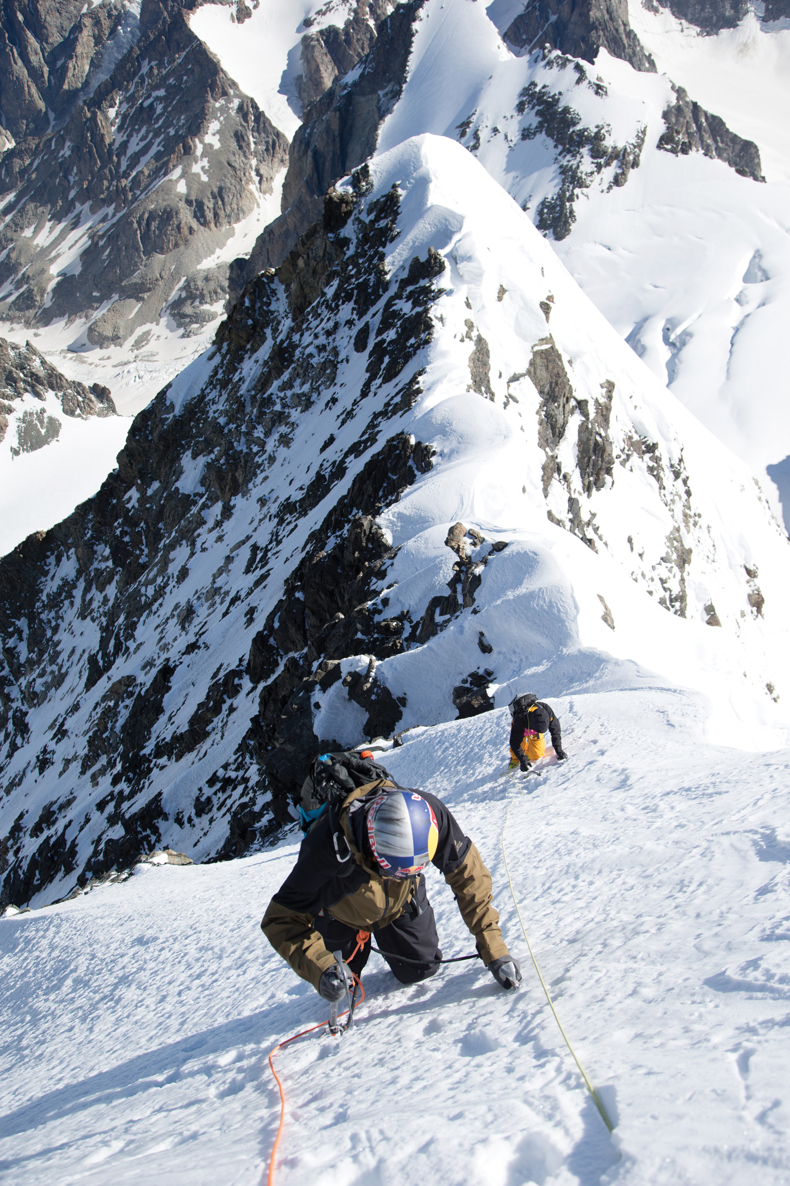 Summiting Mt. Ushba is a task unto itself—but getting to the top means these athletes are only halfway there.