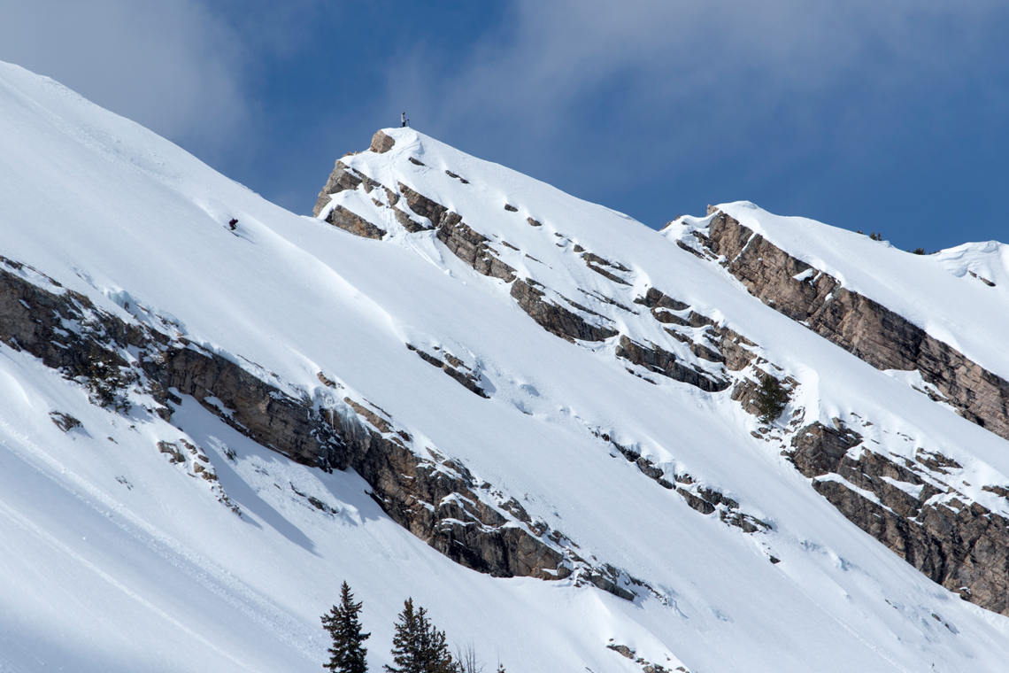 Duncan Adams finds a clean sheet in the Utah backcountry.