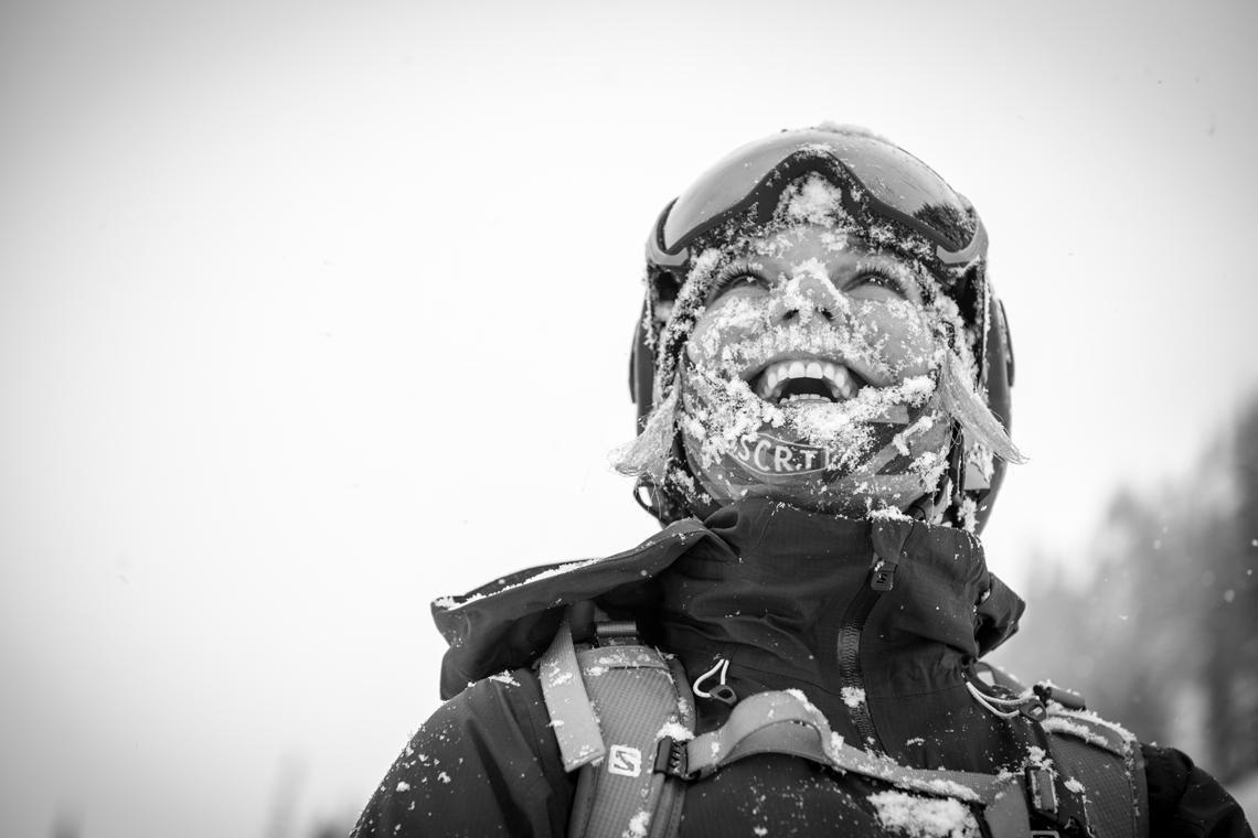 Skier Kalen Thorien knows how good it feels. Photo by Guy Fattal.