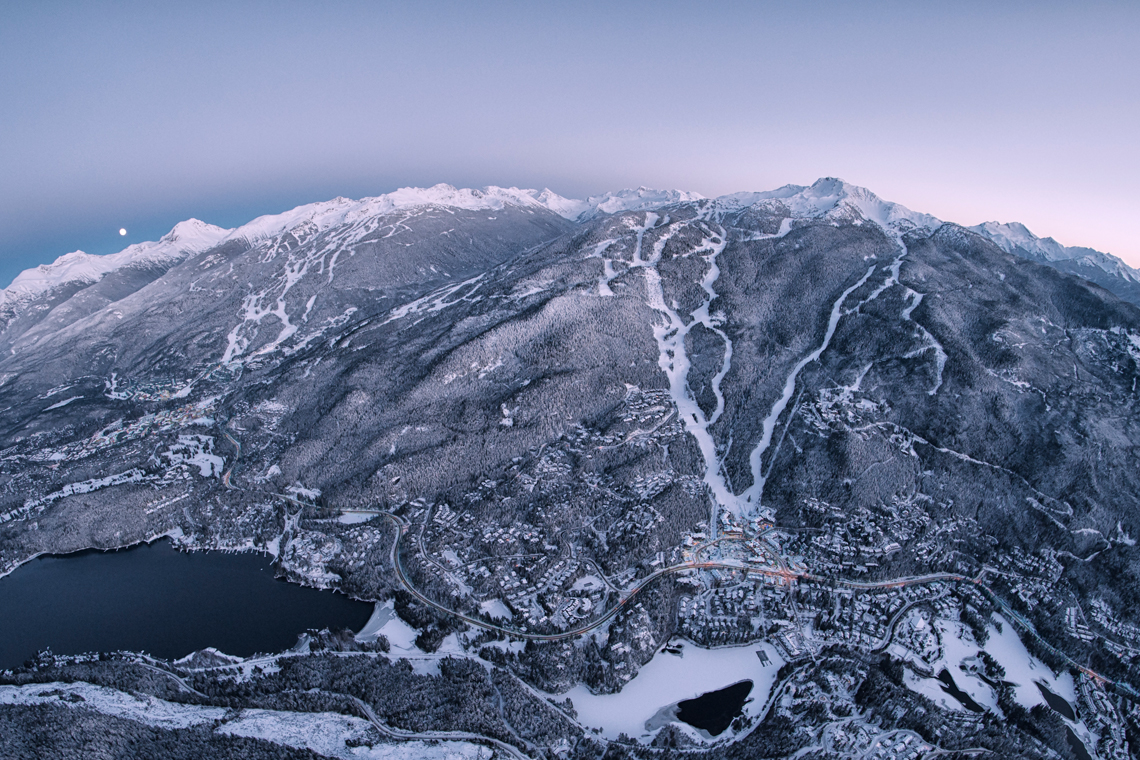 Whistler Blackcomb boasts some of the biggest skiing in North America. Photo by David McColm.