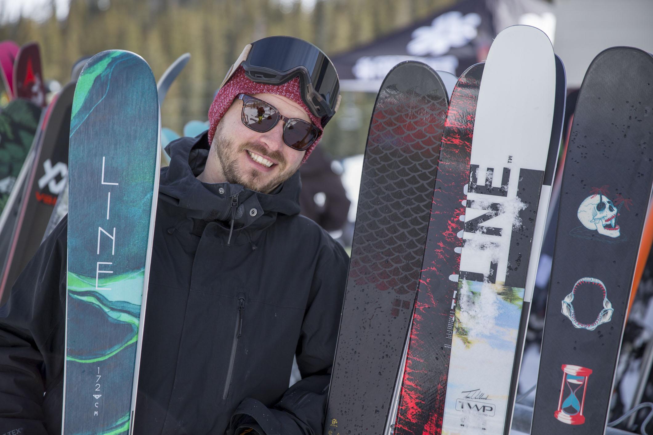 Line skis we re testing this week include the Chronic  Pandora 94  Sick Day  104  Sakana  Pandora 104  Sick Day 114  Tom Wallisch Pro  Honey Badger. 4160ec9a513d