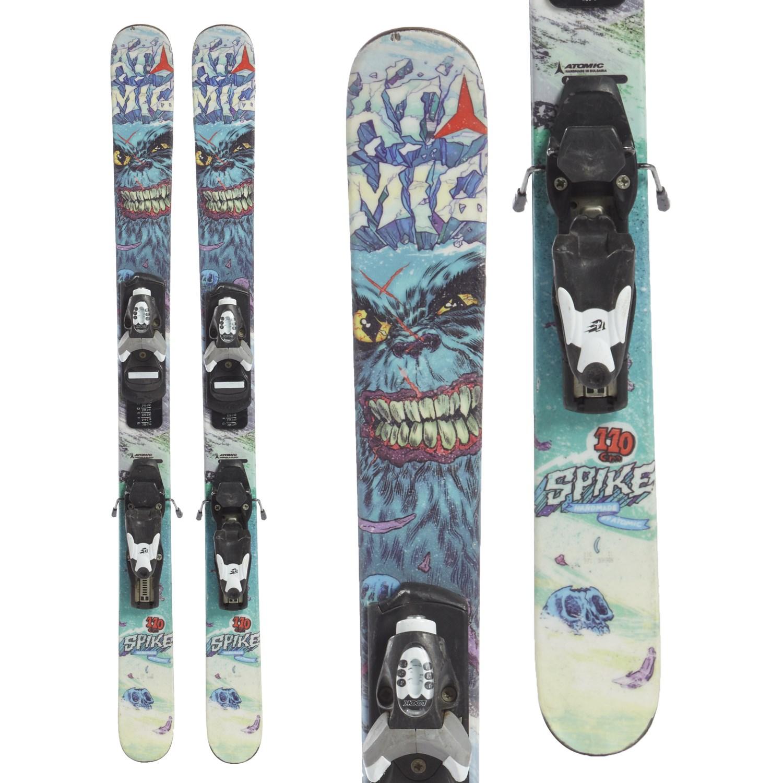 Kid's Atomic Spike Jr. Skis + Look T4 BindingsBoys' 2014