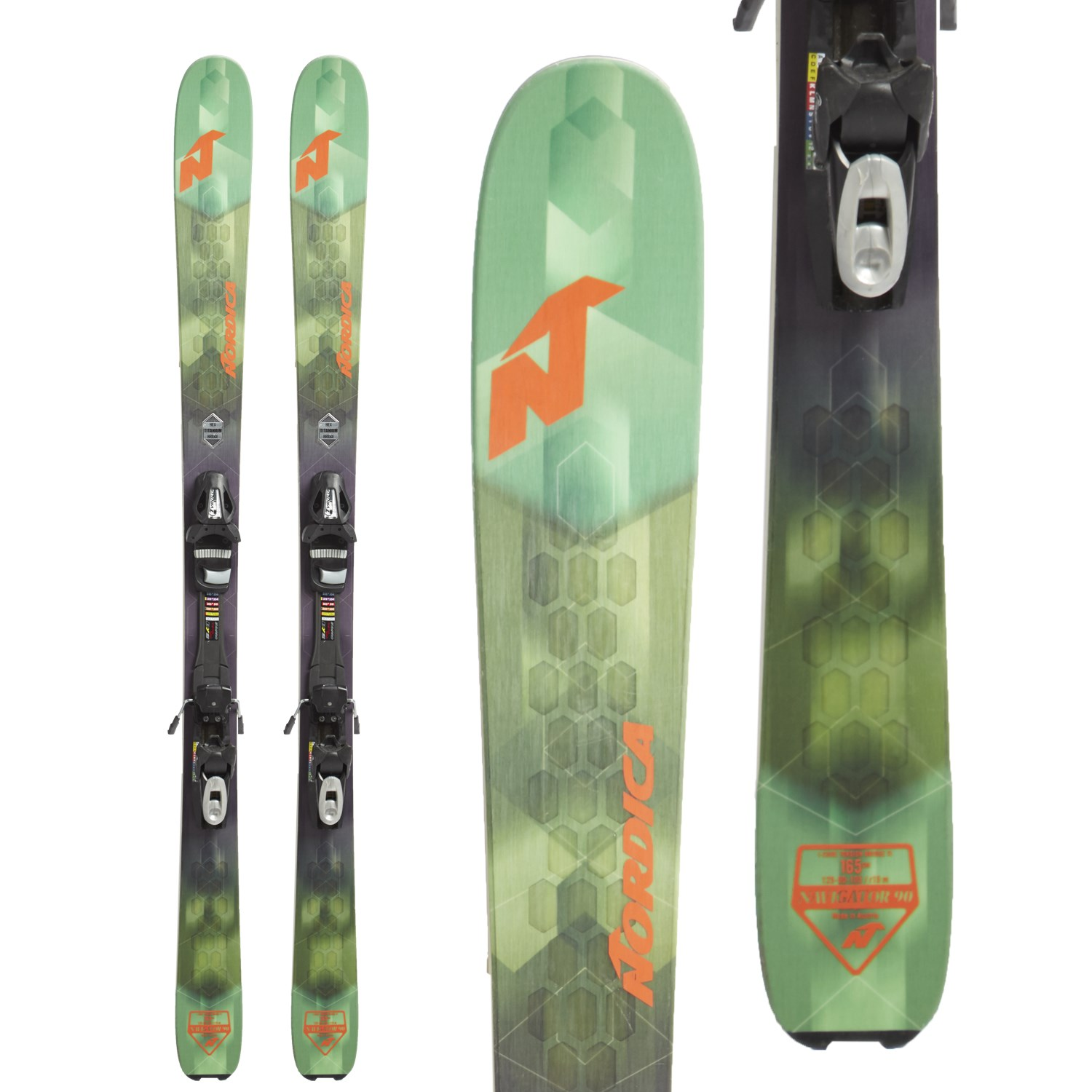 Nordica Navigator 90 Skis + Tyrolia SP 10 Bindings 2018