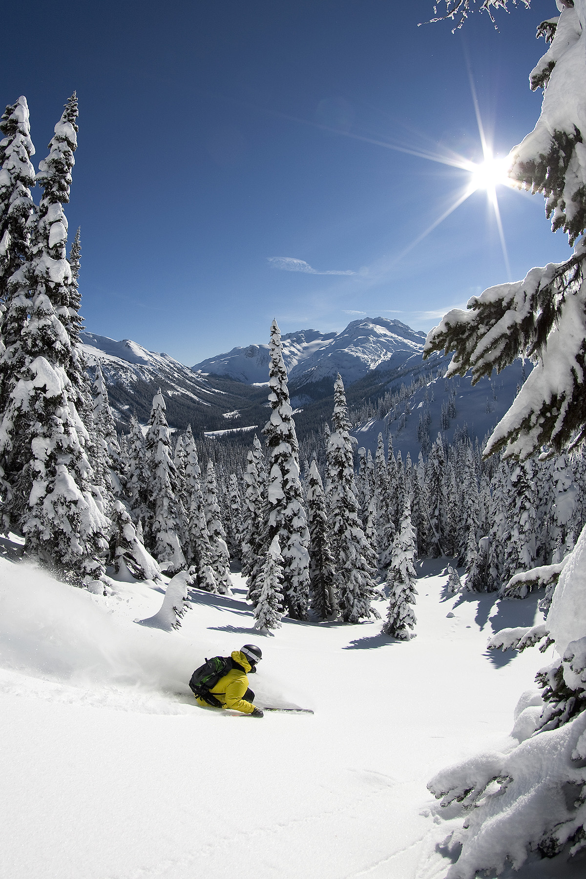Ian Morrison skiing at Backcountry Snowcats, BC. Photo: Paul Morrison