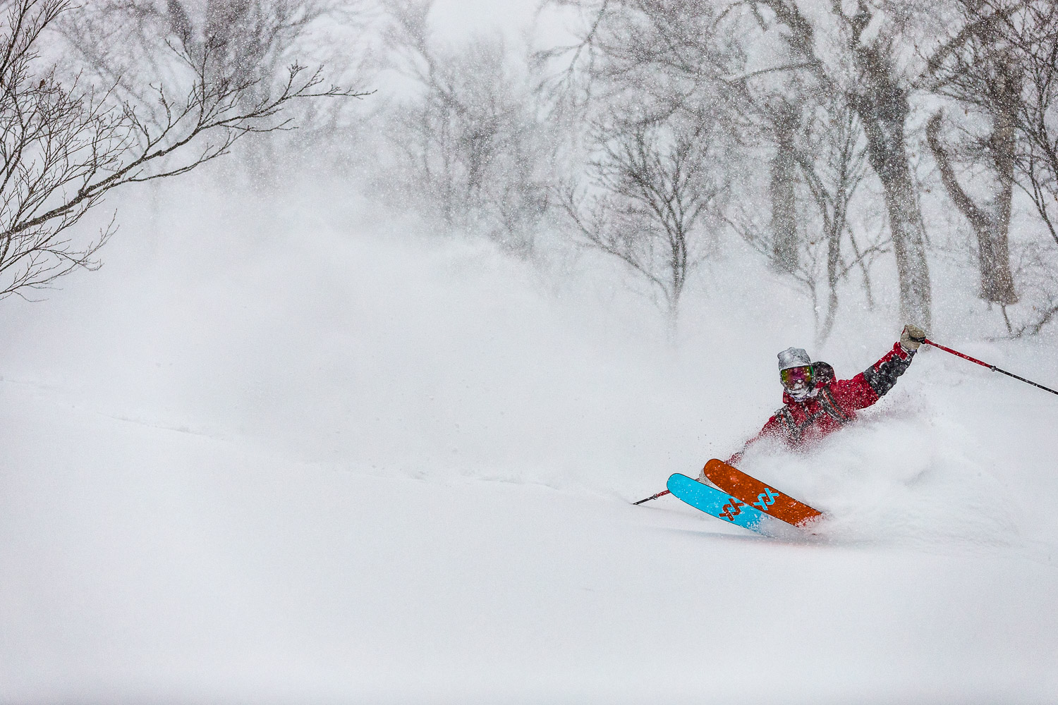 Tanner Rainville taking advantage of the snow with Shimamaki Snowcats.