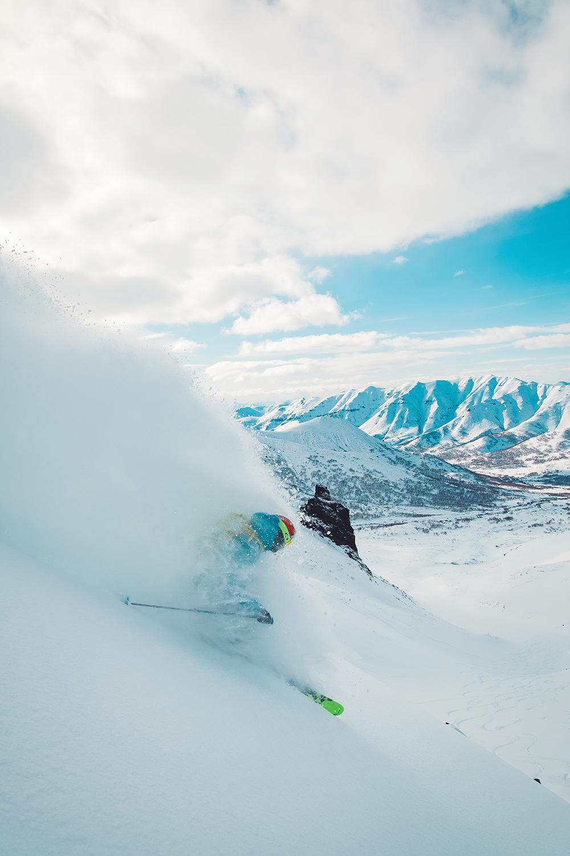 Kyle Smaine enjoying his time in the Kamchatka white room. Photo: Matt Berkowitz
