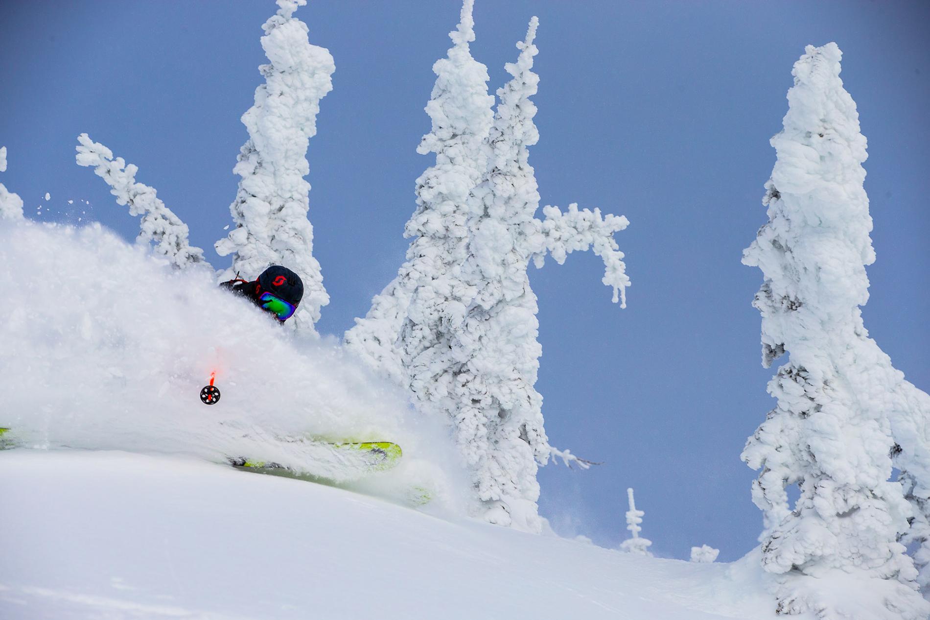 Sam Cohen skiing at Whitefish, MT